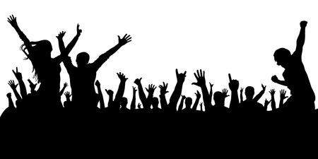 foule de personnes à une silhouette de concert