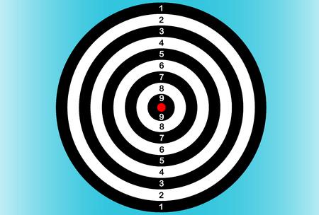 Darts target board illustration. Illustration