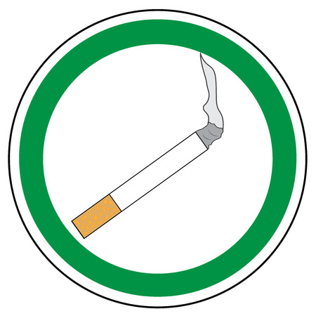 Smoking area sign. Vector. Allowed sign