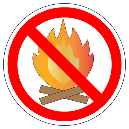 Making fire is prohibited sign Vector illustration.