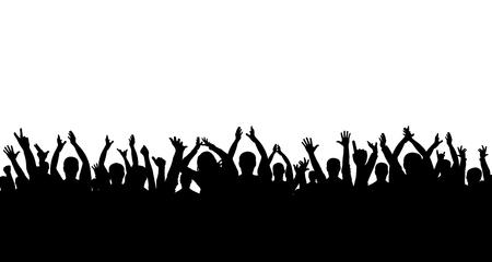? Folla di persone che applaudono silhouette