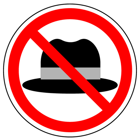 No hat, prohibition sign, vector