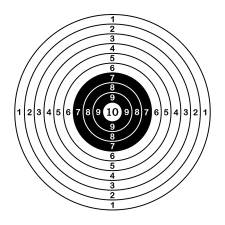 Blank target sport for shooting competition. vector illustration Çizim