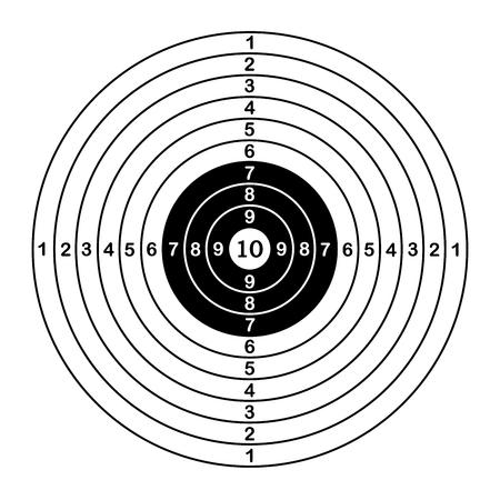 Pusty sport docelowy dla zawodów strzeleckich. ilustracji wektorowych Ilustracje wektorowe