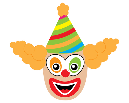 Face of clown, icon. Vector illustration. Illustration