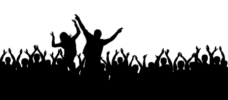 Applausi persone. Folla tifo. Mani in alto