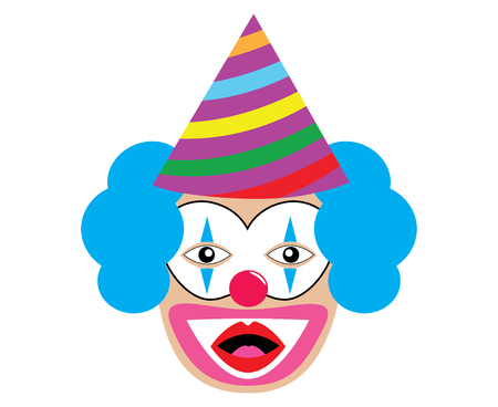 Amazed clown. Vector illustration
