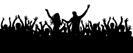 Silhouette of people having a great time