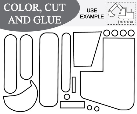 A vector illustration of cut and paste activity for children.