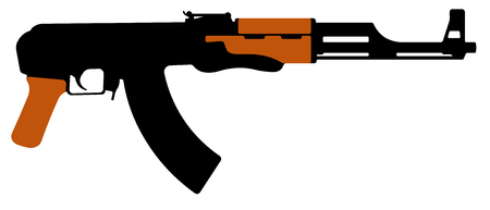 machine gun. Silhouette vector illustration