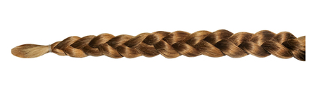 Female blond brown plait isolated