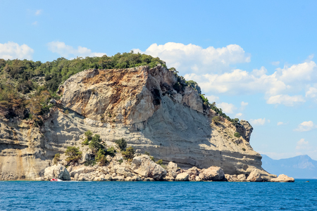 District of Kemer, the rock on the Mediterranean coast, Turkey