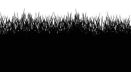 Seamless pattern of grass silhouette. Vector illustration