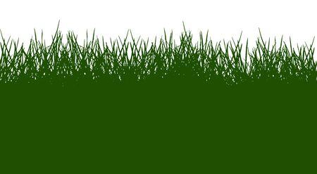 Beautiful green grass silhouette, seamless pattern. Vector illustration.