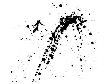 Ink splatter isolated on white background, vector illustration
