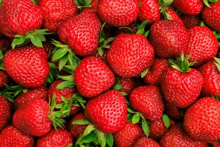 Beautiful red ripe strawberries close-up, background.