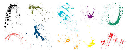 Set of paint splash isolated, vector illustration Reklamní fotografie - 151224339