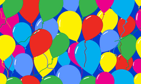 Seamless pattern. Festive pattern with balloons for birthday. Vector illustration