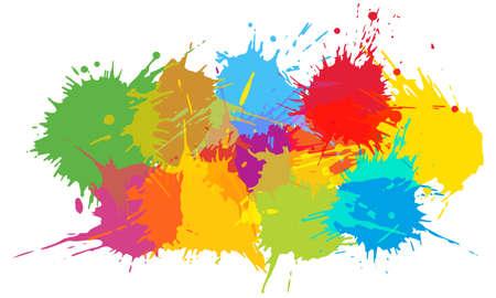 Colorful blots, multicolored splash. Beautiful template. Vector illustration Ilustracja