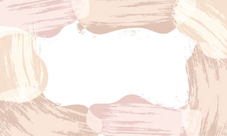 Background with copy space for text. Abstract shapes with smear brush. Trendy design. Vector illustration