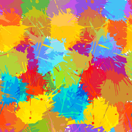 Seamless pattern, colorful blots. Abstract background, vector illustration. Ilustracja