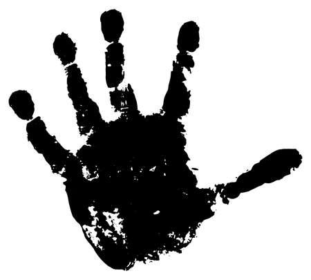 Handprint of palm of child, isolated. Vector illustration. Stock Illustratie