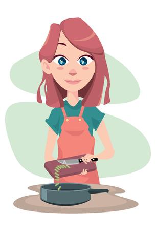 girl: Cooking girl Illustration
