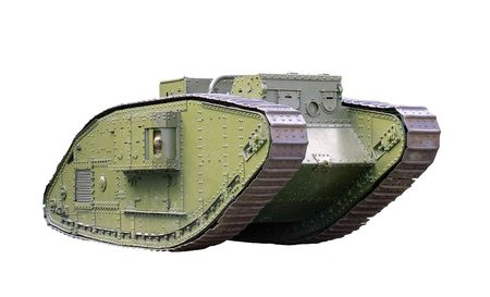 Military tank isolated over white Stock Photo
