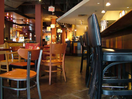View of an inside of a bar/restaurant Stock Photo - 498630