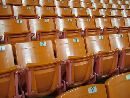 View of a lecture hall  stadium seating Stock fotó