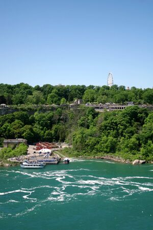 near side: View of the Canadian side near Niagara Falls