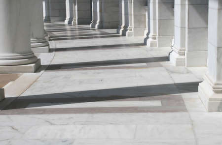 Inside view of the amphitheater in front of the tomb of the unknown soldier, Arlington Cemetery, VA Фото со стока