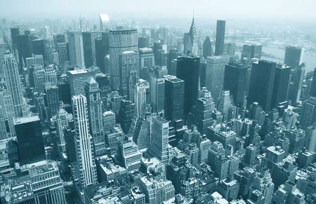 Vue a�rienne du b�timent d�tat dempire de la ligne de ciel de New York et de larchitecture, vue vers Manhattan inf�rieure