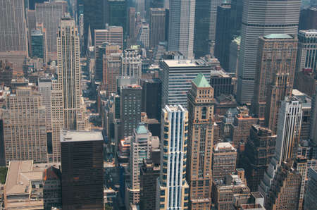 Aerial view from the Empire State Building of New York Sky line and architecture, view towards upper manhattan Stock Photo - 1334091