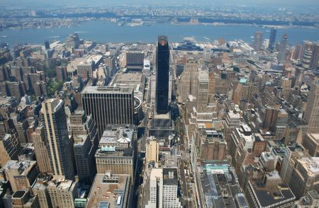 condos: Aerial view from the Empire State Building of New York Sky line and architecture