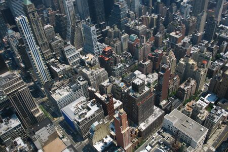 sky line: Aerial view from the Empire State Building of New York Sky line and architecture