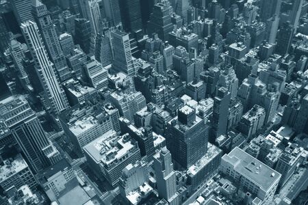 Vue a�rienne de l'Empire State Building de New York Sky ligne et l'architecture  Banque d'images