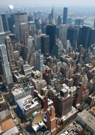Aerial view from the Empire State Building of New York Sky line and architecture, view towards upper manhattan Stock Photo - 1334088