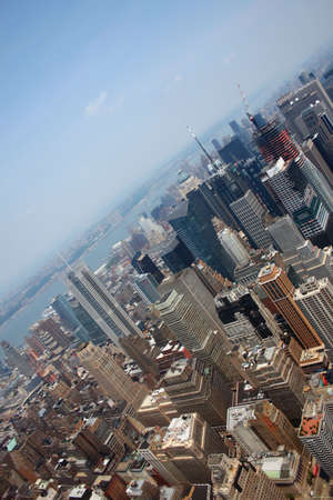 Aerial view from the Empire State Building of New York Sky line and architecture, view towards upper manhattan Stock Photo - 1334085