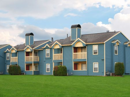 townhouses: Row of beautiful townhouses Stock Photo