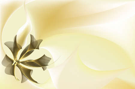 Light yellow, pastel colored background, fractals and vector meshes Stock Photo - 2154213