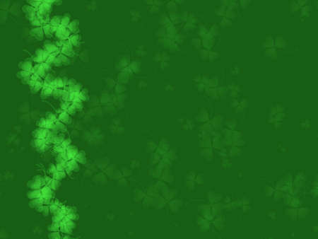 St. Patrick's Day Background -green tones, with shamrock pattern, suitable for a variety of holiday designs Stock Photo - 2571684
