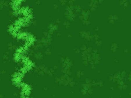 breen: St Patrick's Day background-toni di verde, con trifoglio modello, adatto per una variet� di disegni e modelli vacanza  Archivio Fotografico
