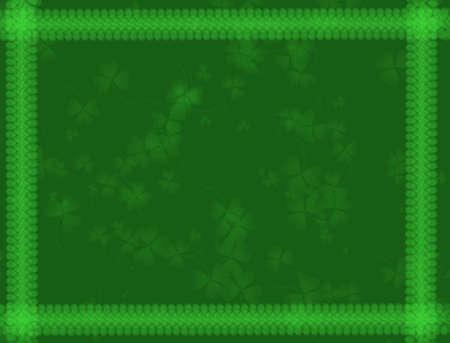 breen: St. Patrick's Day background-verde toni, con trifoglio modello, adatto per una variet� di disegni e modelli di vacanza