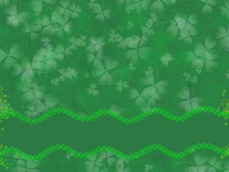 St. Patrick's Day Background -green tones, with shamrock pattern, suitable for a variety of holiday designs Stock Photo - 2571707
