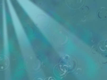Oceanic, underwater background with bubbles