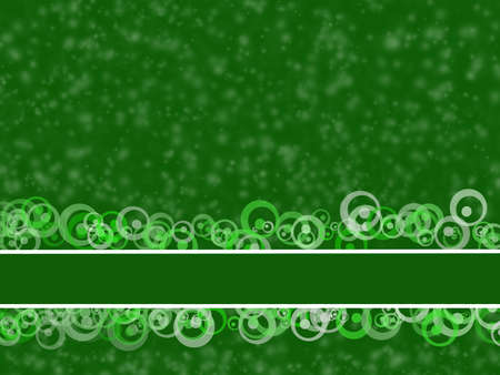 View of an elegant green background, illustration using original brushes