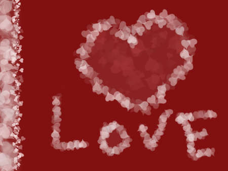 Illustration of hearts, love background with vertical frame made of hearts, Valentine's day, romantic/love themed image Stock Illustration - 2639845