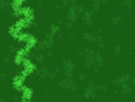 St. Patrick's Day Background -green tones, with shamrock pattern, suitable for a variety of holiday designs Stock Photo - 2639830