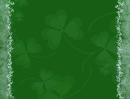 聖パトリックの日の背景-緑のシャムロック パターン、様々 な休日のデザインに適したトーン